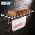 Настенный никелевый держатель для полотенец WEYUU 40/50/60 см  держатель для полотенец из нержавеющей стали 304