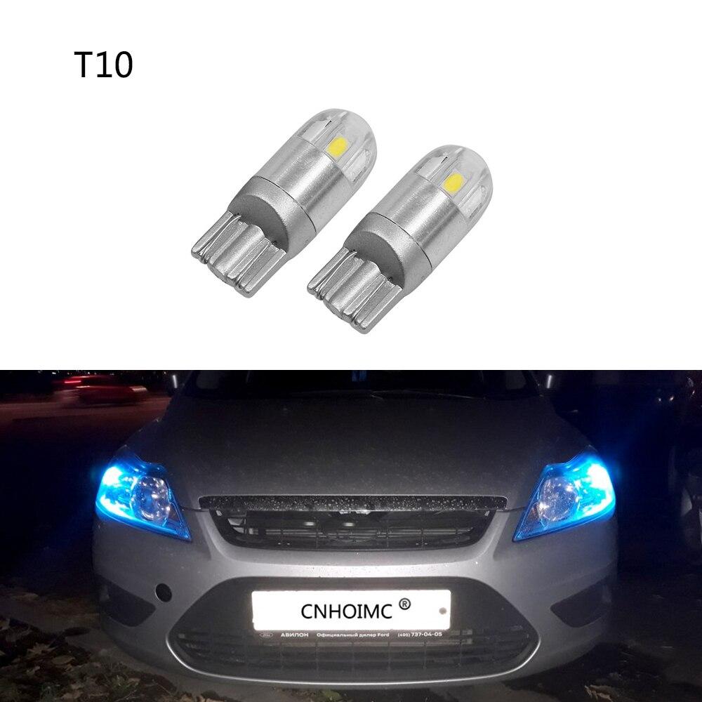 2Pcs Car LED T10 W5W 194 Canbus Parking Light For Nissan Qashqai Juke J11 Almera X-trail t31 t32 Tiida Note Primera Pathfinder
