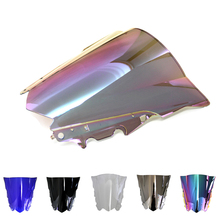 Motorcycle Windscreen/Windshield Screen Protector Double Bubble For Yamaha R25 R3 15 16  R-25 R-3 2015 2016 eshiny double r