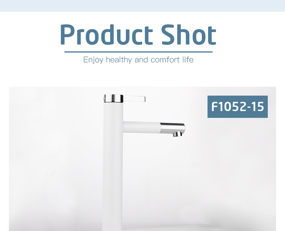 HTB12orta6nuK1RkSmFPq6AuzFXaO Frap New Arrival White Spray Painting bath sink faucet Bathroom cold and hot tap Crane with Aerator 360 Rotating F1052-14/15