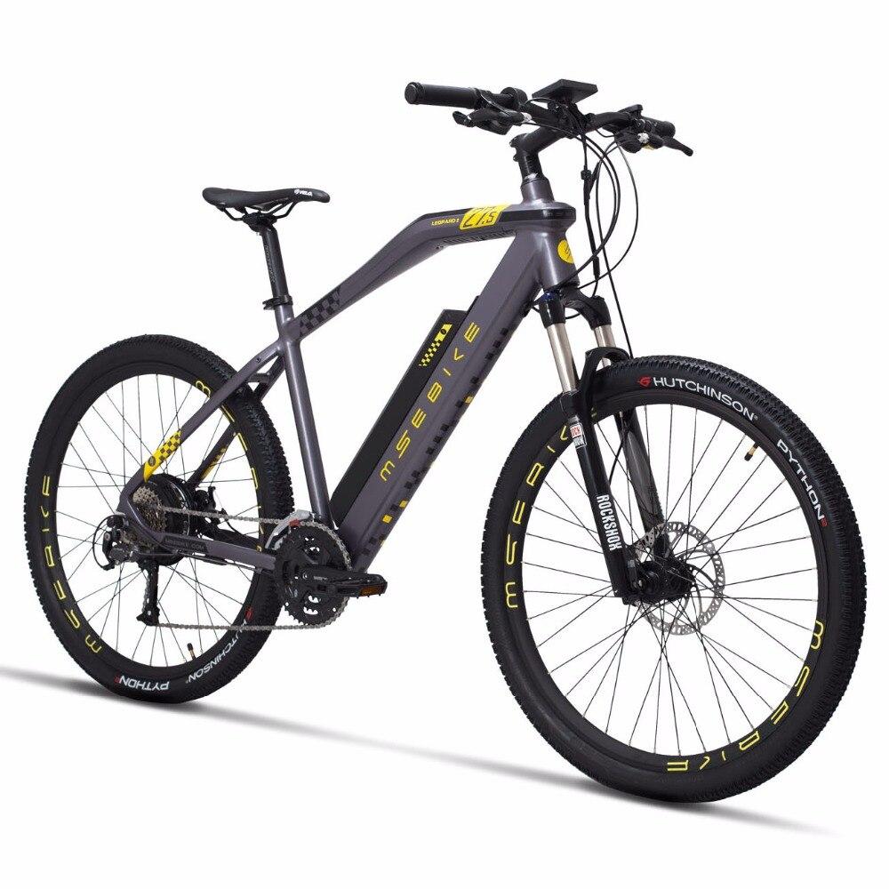 Nouveau vélo de montagne électrique 27.5 pouces 27 vitesses vtt 48V500W moteur arrière 25 km/h pas vélo Tektro M290 frein à disque hydraulique ebike