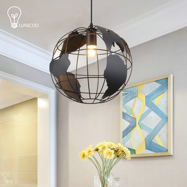 ФОТО LINUCOO Modern pendant lights Iron body&lampshade E14 lamp holder freeshipment 90-265V Suspension Lamp for room decoration