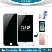 Качество AAA 5,5 4,7 дюймов ЖК-экран для iPhone 7 Plus ЖК-дисплей дигитайзер сенсорный экран замена сборка для iPhone7 ЖК-дисплей
