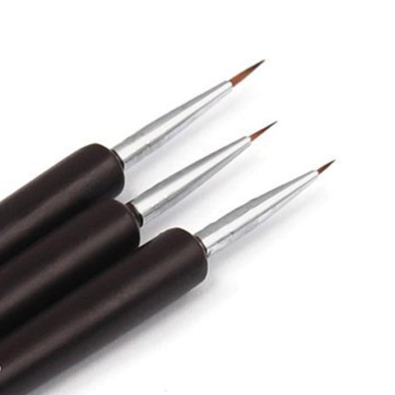 3Pcs Professional Brushes Nail Tools Acrylic Nail Brush Set Kit DIY Fashion Nail Art Brush For Manicure New Nail Painting Tool