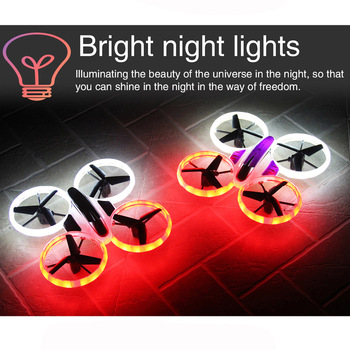 JXD522 JXD 522 RC Helicopter Fantastic LED Night Lights 4CH 6 Axis RC Drone Quadcopter Remote Control Toys Stunt Aircraft