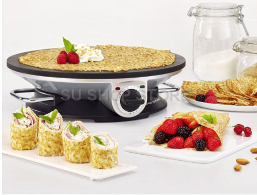 220V Automatic Household Electric Breakfast Maker Machine Non stick Multifunctional Electric Crepe Pancake Baking Pan EU