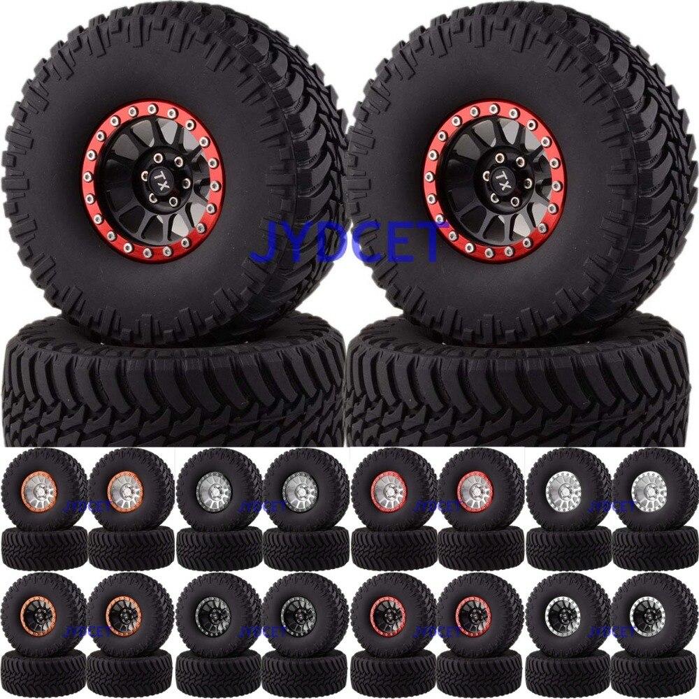 4pcs 2022-3033 For RC 1/10 Climbing Rock Crawler 12-Spokes Beadlock 2.2 Aluminum Wheel Rim & Super Swamper Rocks Tyre 128mm mxfans 4 x rc1 10 rock crawler black alloy 7 spoke wheel rim simulation rubber tyre