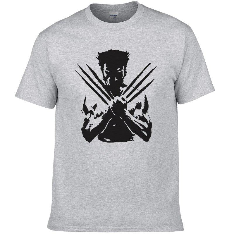 X-Men Wolveriner T Shirt Men Women Summer Cotton Printed Superhero Short Sleeve Tees T-shirt For Men European Size #068