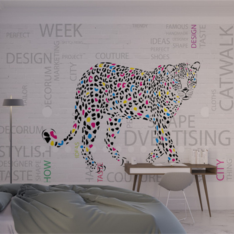 Hand Painted Leopard Animal Wallpaper 3 d Wall Picture Custom Modern Wallpaper for Study Room Kitchen Desktop Decor Newspaper