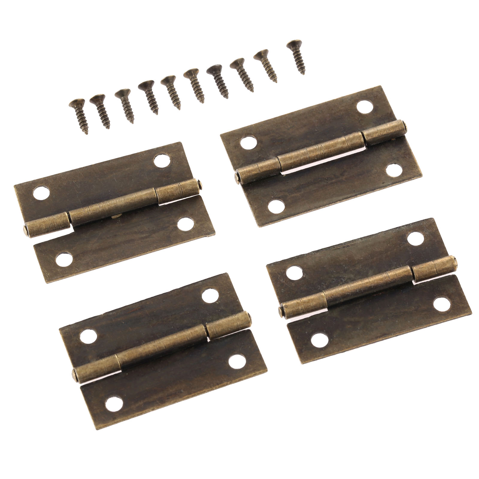 4Pcs Antique Bronze Furniture Hinges Jewelry Box Cabinet Drawer Door Butt Hinge Decorative Hinges for Furniture Hardware 38*25mm lhx p0fh04 1 39 57mm bronze hinge for jewelry box cabinet furniture diy family hardware