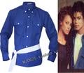 MJ Michael Jackson the way you make me feel blue shirt proformance collection