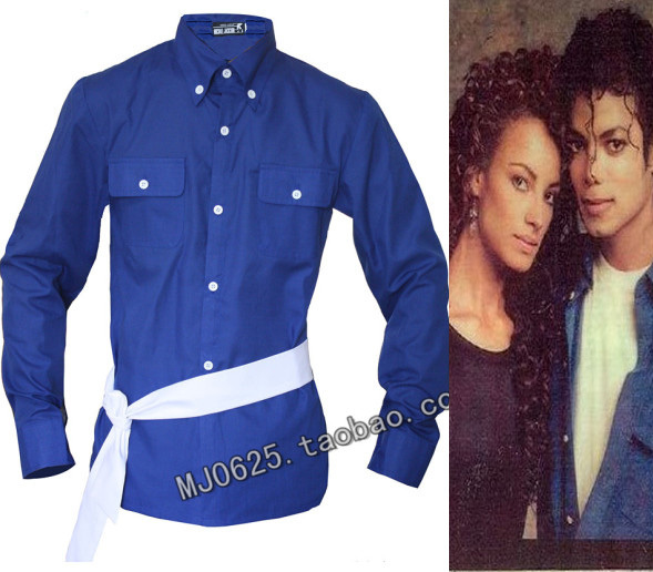 MJ Michael Jackson the way you make me feel blue shirt proformance collection