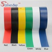 Cinta adhesiva aislante de alta temperatura, cinta de PVC impermeable, 6 unidades por lote, 6 colores, 18 m/unids