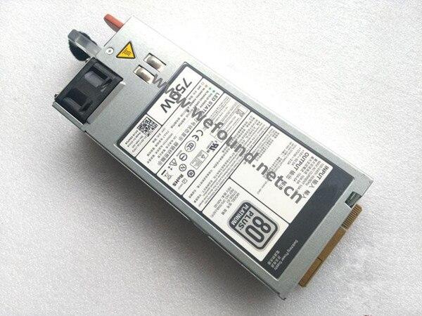 100% alimentation électrique Pour R720 R620 R520 T620 W0CTF D5MW8 05NF18 F750E-S0 750 W Entièrement testé.