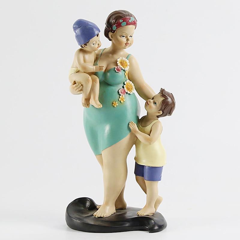 Mère américaine aime la famille chaude décoration série de personnages de résine artisanat décoratif ameublement cadeau de fête des mères - 6