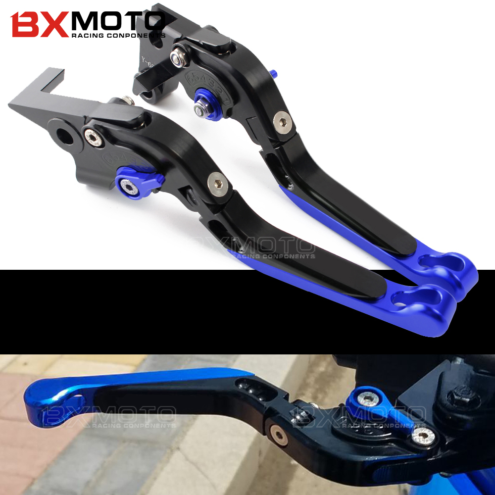 BXMOTO pair CNC Adjustable Motorcycle Brake Clutch Levers For Yamaha YZF R6 YZFR6 1999-2004 Motorbike Brake Lever accessories 6 colors cnc adjustable motorcycle brake clutch levers for yamaha yzf r6 yzfr6 1999 2004 2005 2016 2017 logo yzf r6 lever