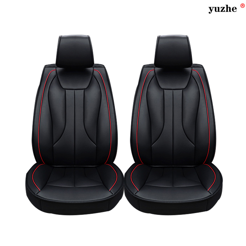 2 pcs Leather car seat covers For Subaru Tribeca Legacy Outback Impreza Forester Legacy Wagon car accessories car styling car seat cover car seat covers seats for porsche cayenne s gts macan subaru impreza tribeca xv sti 2013 2012 2011 2010