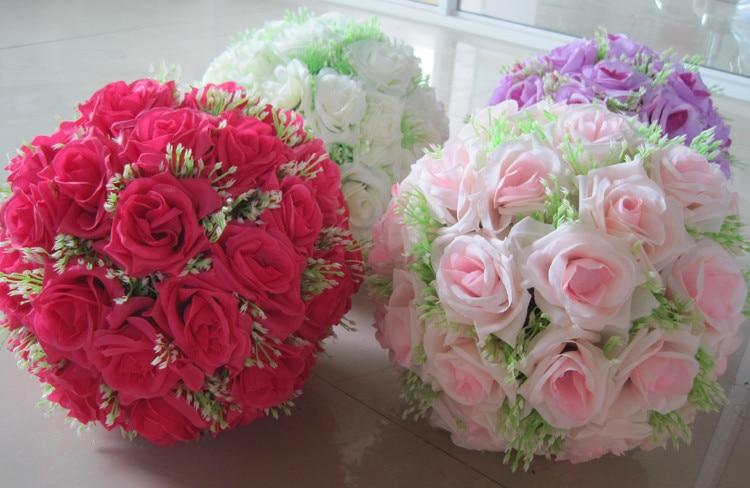 8 tuuman (20 cm) häät suudelleva pallo Pomander keinotekoinen kukka - Tavarat lomien ja puolueiden - Valokuva 6