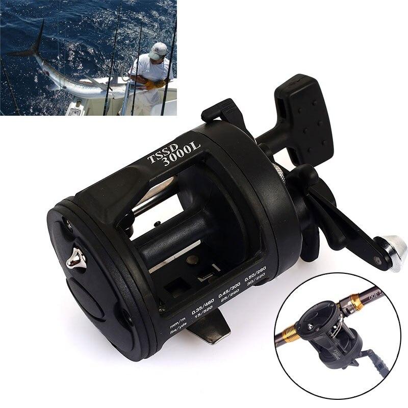 Plastic Trolling Reel Dripping Wheel Metal Rocker Practical Fishing Rod Spool Gear