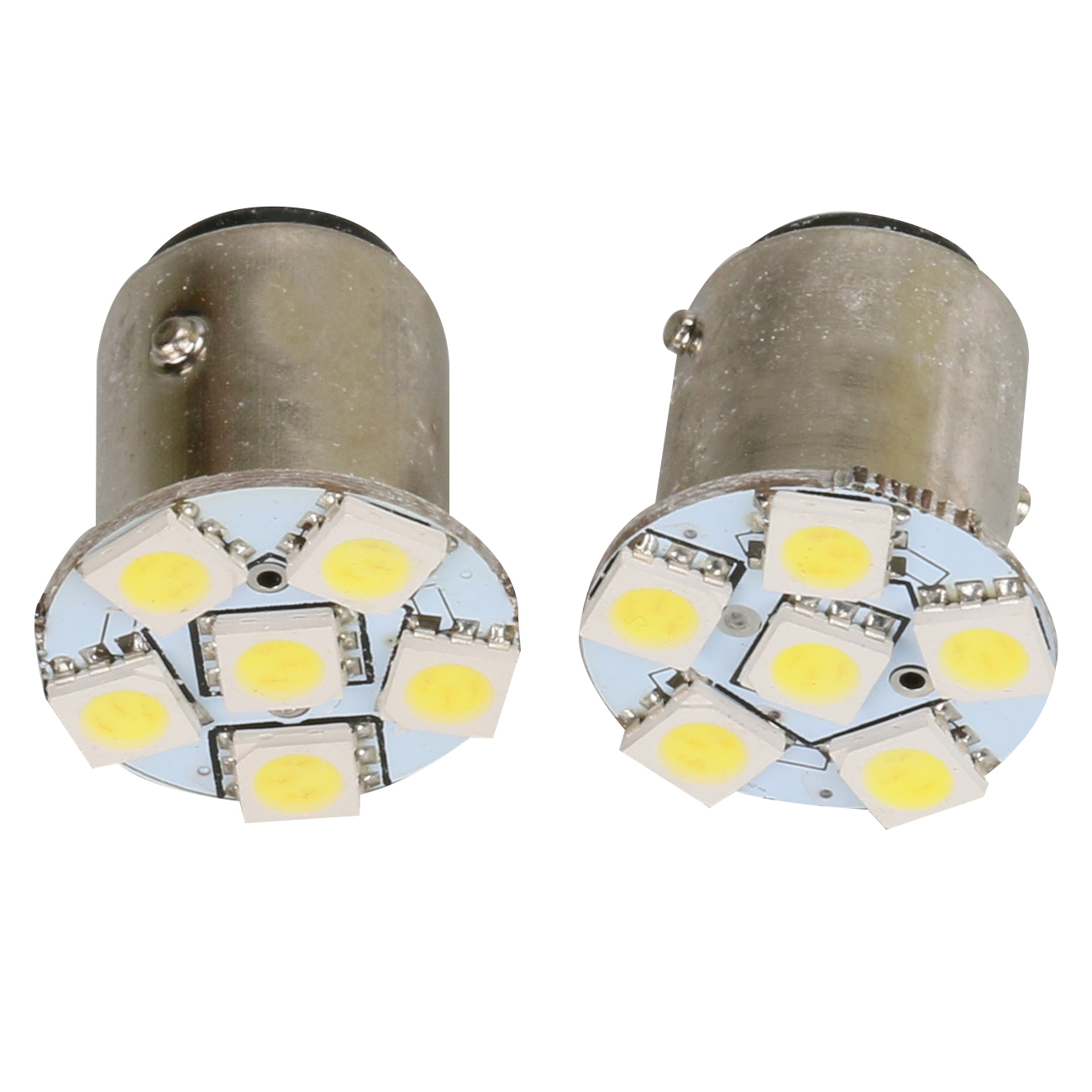 Auto Double Contact Bayonet Lamp Brake Turn Signal Light 5050 SMD LED 6 Emitters Light DC 12V