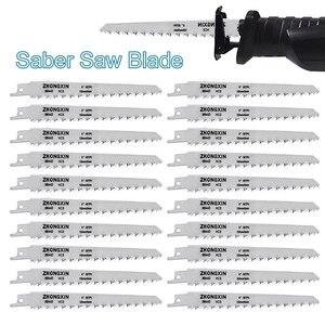 Image 1 - 20Pcs HCS คาร์บอน SABER SAW ใบมีด 150x19x0.9 มม.สำหรับไม้โลหะตัดเครื่องมืออุปกรณ์เสริม QP2