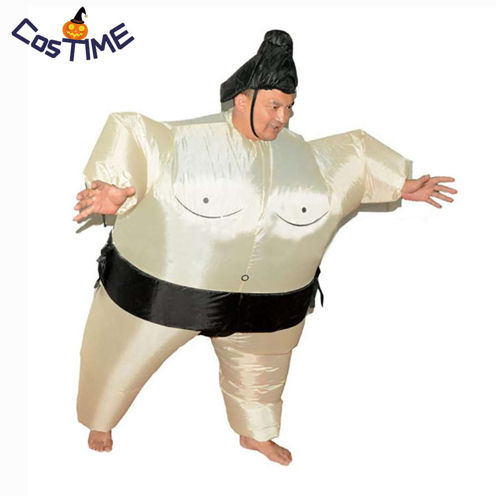 Inflatable Sumo Costume Halloween Party Fancy Costume Adults Fat Man Japanese Sumo Marathon Cosplay Halloween Party Costumes