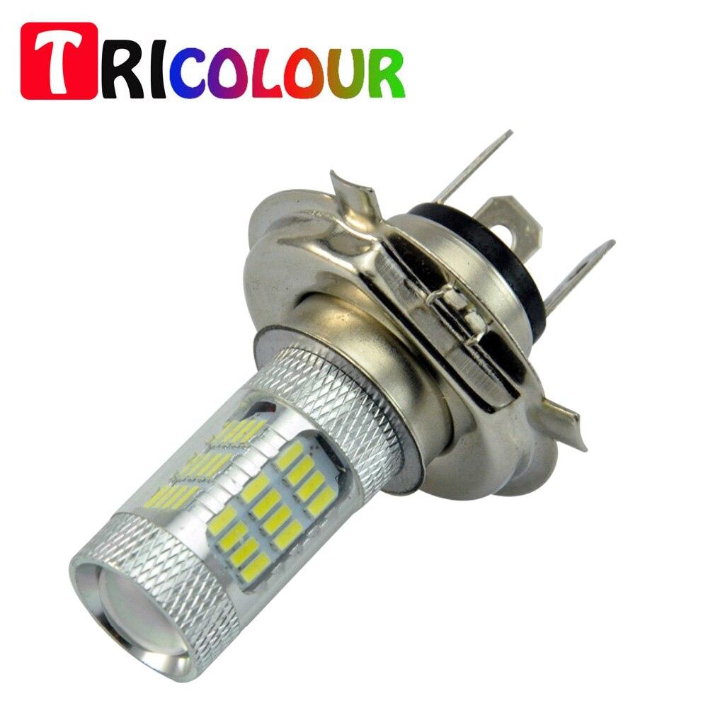 TRICOLOUR H4 9003 HB2 45smd 4014 led fog light 2PCS H4 kit 750 Lumen Hi/Low Low Power Consumption Dual Beam Bulbs #LJ56