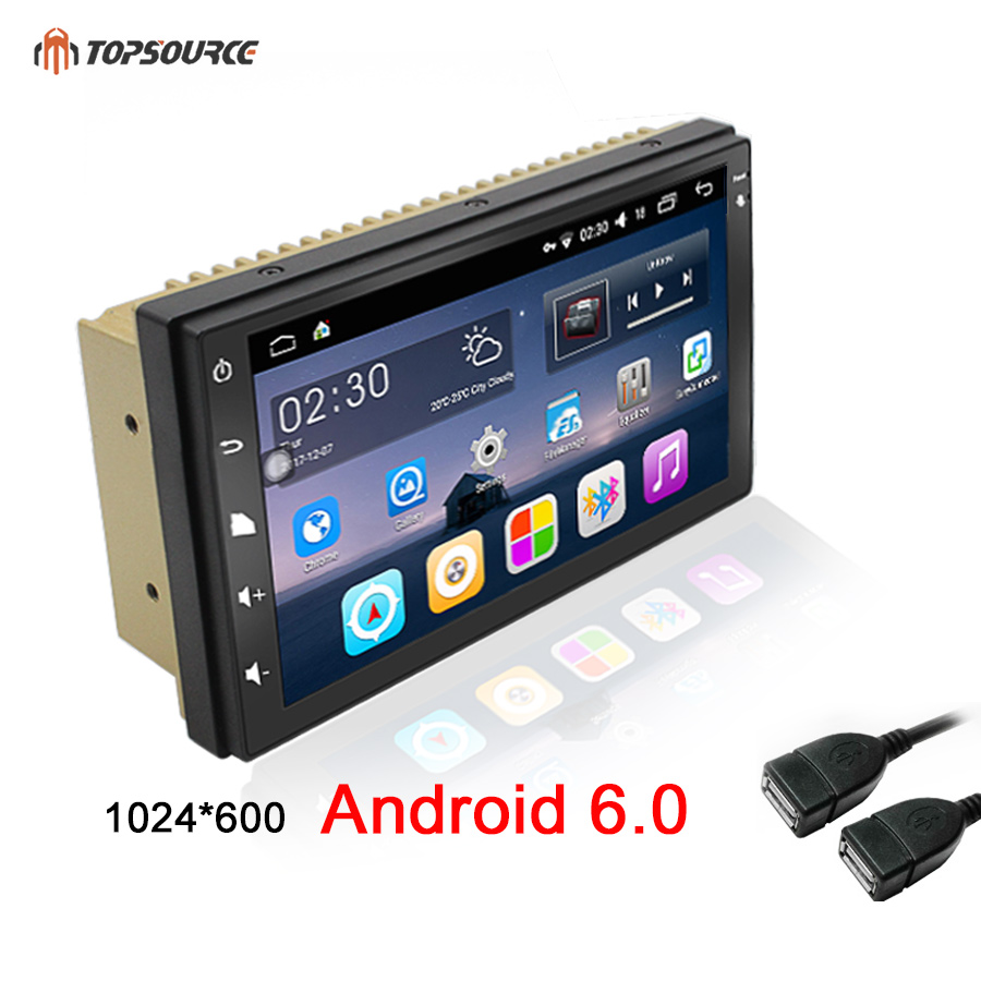 TOPSOURCE 7″universal 2 din car radio gps android 6.0 2din Car DVD Player GPS NAVIGATION For VW Nissan TOYOTA Volkswagen peugeot