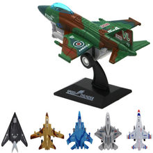 New arrival 13cm Alloy Missile Fighting aircraft Model high simulation Military Missile aircraft Models tobot toys for children(China)