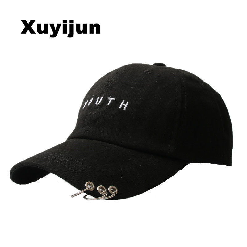 Xuyijun Cotton embroidery letter YOUTH Tricyclic baseball cap for men women snapback Hat Bone Outdoors Hat Style For Custom Hats wholesale spring cotton cap baseball cap snapback hat summer cap hip hop fitted cap hats for men women grinding multicolor