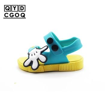 Mini Melissa Style Palm Boy Girl Sandals 2019 New Children Kids Shoes Toddler Non-slip