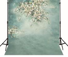Фотография Hazy Pale Blue Flowers Backgrounds High-grade Vinyl cloth Computer printed newborns backdrop