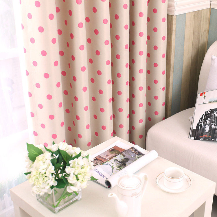 Kids Polka Dot Curtains 2017 polka dots blackout window curtains children curtain for living 2017 polka dots blackout window curtains children curtain for living room bedroom panel for kids baby room curtains fabric in curtains from home garden on sisterspd