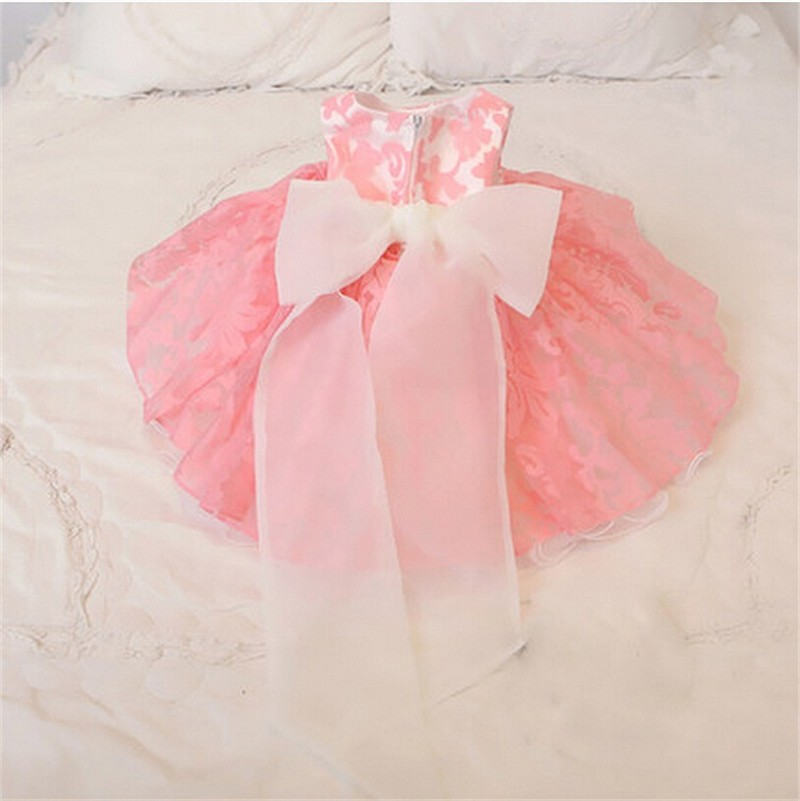 Newborn Bow Dress Baby Girl (3)