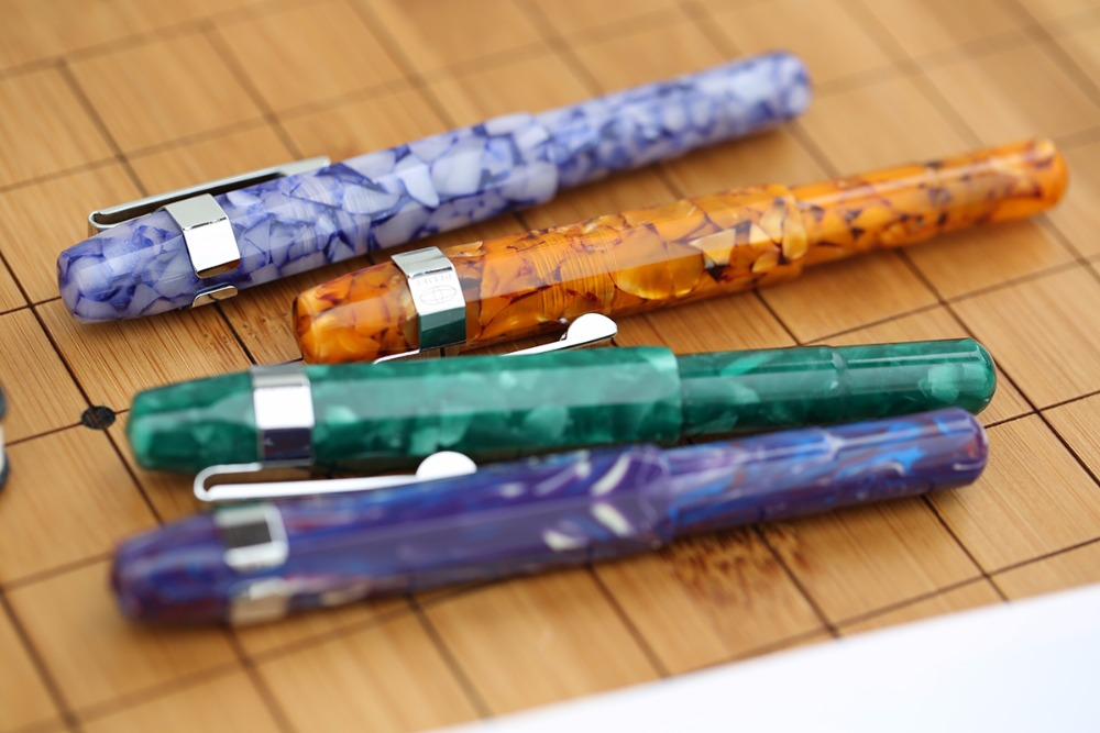 Image 5 - Moonman Delike Alpha Resin Fountain Pen Delicate Travel Short Pen Extra Fine/Fine/Calligraphy Bent Nib Fashion Writing Gift Set-in Fountain Pens from Office & School Supplies