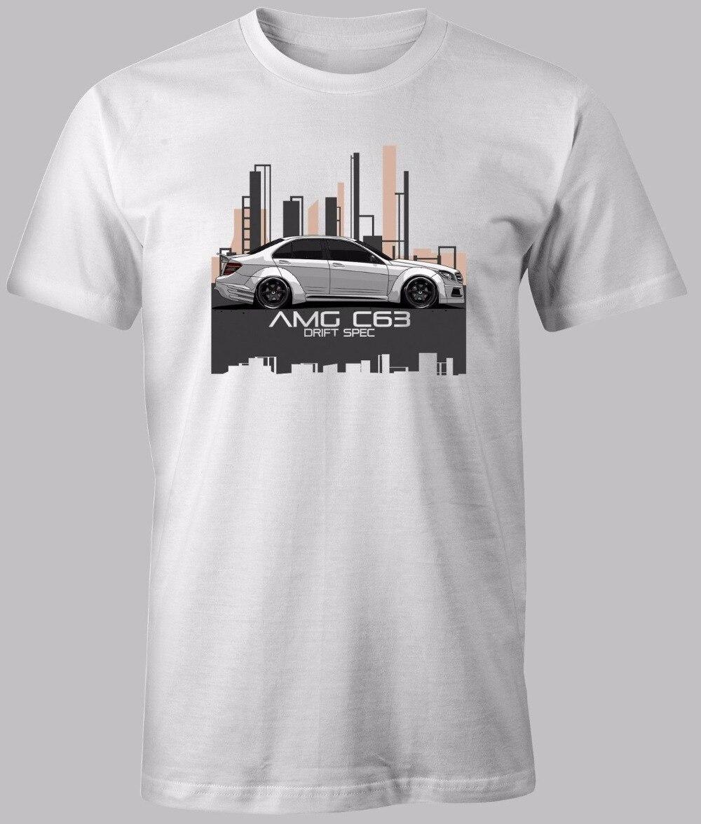 Mens T Shirts Fashion 2019 Casual O-Neck Male Tops Tees Shirt W204 C63 Car Fans C Class CUSTOM PRINT Casual T Shirt