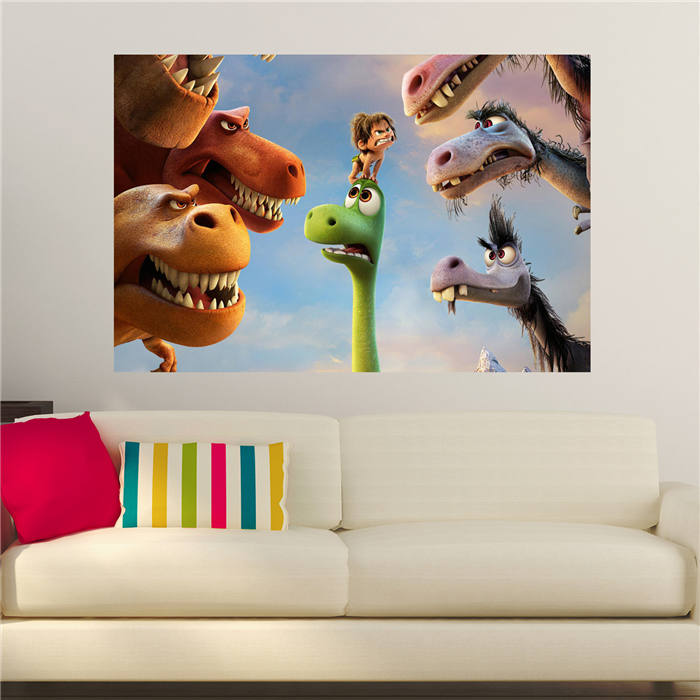 Custom canvas print  The Good Dinosaur poster fabric cloth silk wall poster print Silk Fabric Print SQ0428-LZY-E570