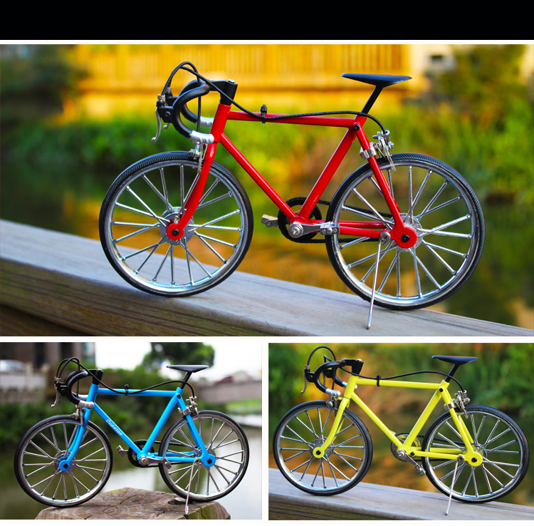DIY metal assembled bicycle model simulation puzzle toy gift