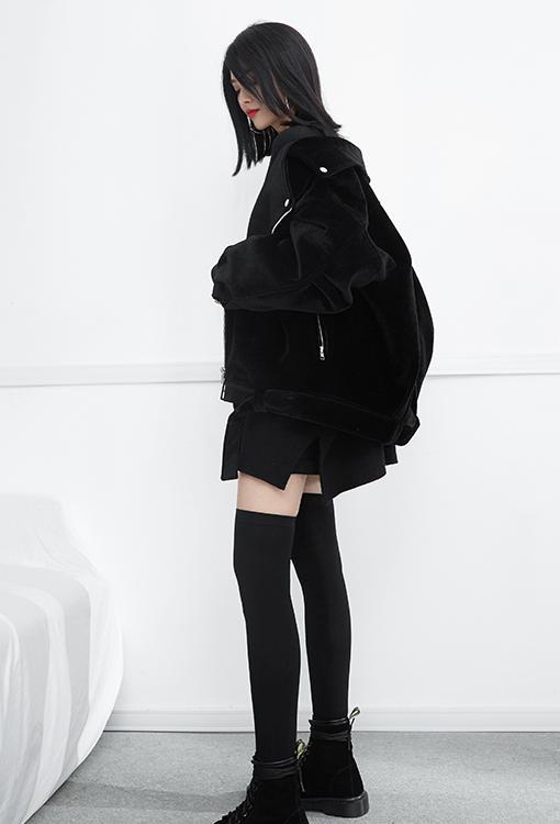 Survêtement D'hiver Tops 2018 Fourrure Getsring De Oversize Épaississent Femelle Manteau Femmes Haut Manteaux Crin Vestes Black Veste TJK1Flc