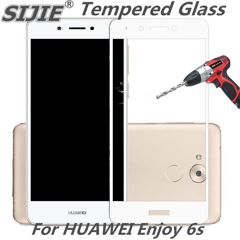 Full cover Tempered Glass For HUAWEI Enjoy 6s 6 S screen protective smartphone case 9H toughened black White gold display clear
