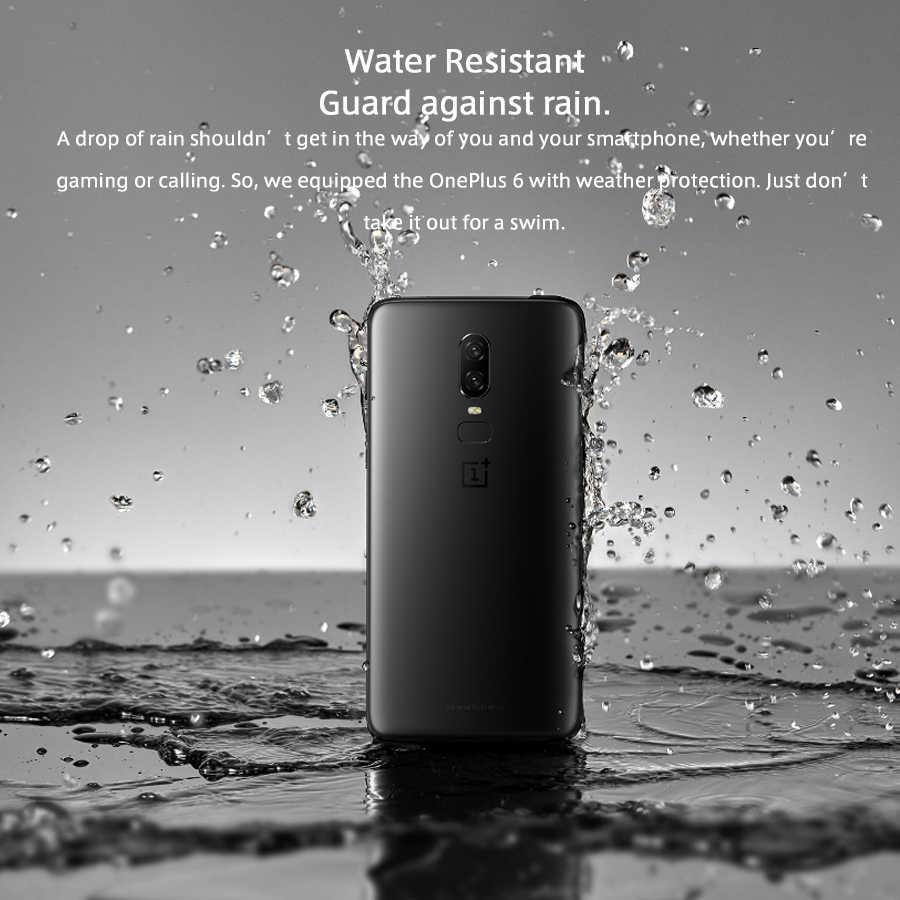 Zupełnie nowe oprogramowanie sprzętowe na cały świat Oneplus 6 telefon komórkowy 8GB 128GB 6.28 cala Snapdragon 845 Android 8.1 20MP NFC 4G smartphone lte