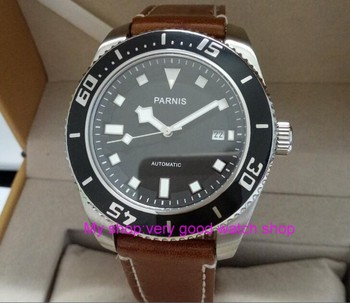 43mm Parnis Sapphire Crystal Japanese 21 jewels Automatic Self-Wind Movement Mechanical watches 5Bar Luminous Men's watches 286