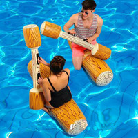 Water Entertainment Game Toy Inflatable Float Raft Chair Stick Swimming Games Kit FG66