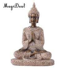 MagiDeal Sandstone The Hue Sandstone Meditation Buddha Statue Sculpture Hand Carved Figurine -Home Decoration Accessories Gift