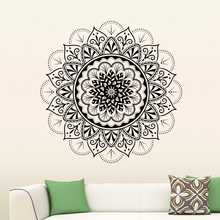 Big Mandala Wall Stickers Decor Flower Indian Bedroom Living Room Decal Art Mural Home Removable Poster