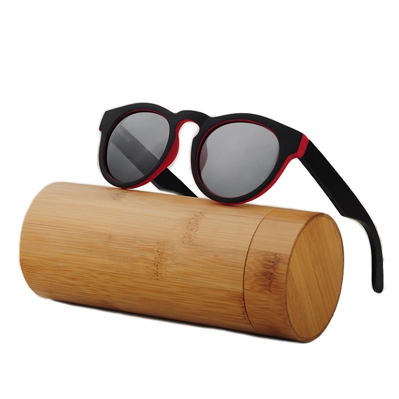 LONSY Handmade Putaran Bambu Sunglasses Wanita Kacamata Kayu Pria - Aksesori pakaian - Foto 5