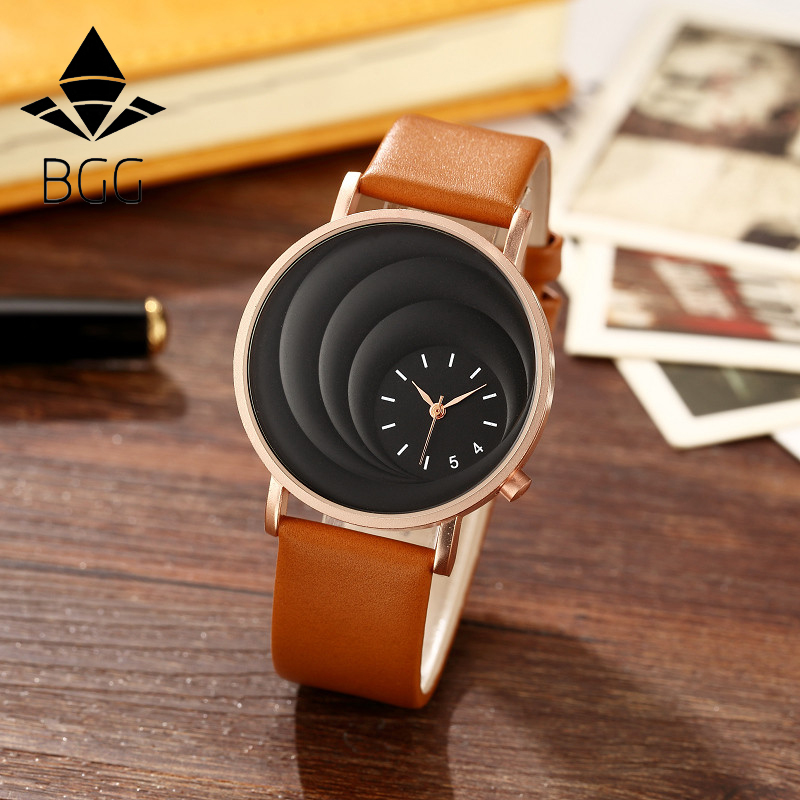 BGG New version women watch Fashion casual ladies watches Creative Three-dimensional special dial wristwatch Accessories clock