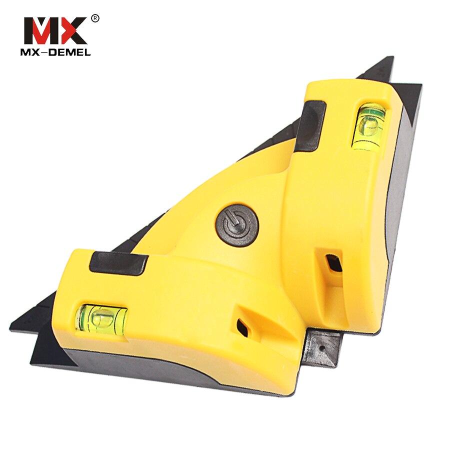 MX-DEMEL Ad Angolo Retto 90 Gradi in Verticale Orizzontale Linea Laser di Proiezione Quadrato Livelli 2 Linea Nivel Livello del Laser Strumenti di Misura