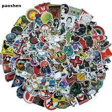 100Pcs random NO Repeat Mixture Stickers Doodling Travel DIY Stickers On The Car Motorcycle Luggage Laptop Bike Scooter(China)