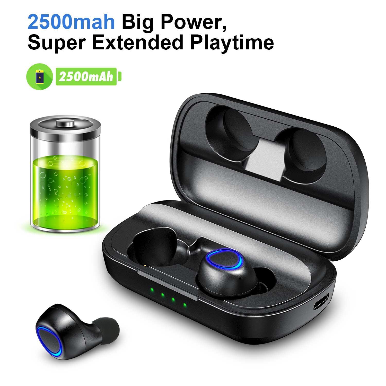 ANOMOIBUDS IP010 плюс Беспроводной зарядный чехол СПЦ Bluetooth наушники Bluetooth 5,0 глубокий бас спортивные Беспроводной бинауральные наушники
